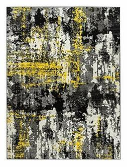 Oxford Collection Style 06 Yellow Grey Modern Area Rug