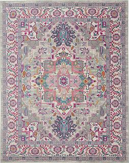 Nourison Passion 8' X 10' Light Grey And Pink Area Rugs 0994