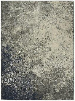 Passion PSN10 Charcoal/Ivory Area Rug Colorful Contemporary
