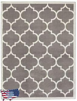 Ottomanson Paterson Collection Grey Contemporary Moroccan Tr