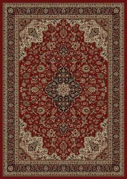 "Concord Persian Classics Medallion Kashan Red 5'3""X7'7"" Rug"