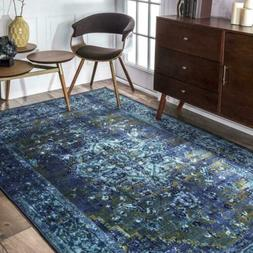 nuLOOM Overdyed Vintage Traditional Distressed Area Rug in B