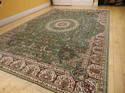 Silk Persian Rugs Tabriz Rug 9x12 Green Area Rugs 5x8 Rug 2x