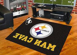 "Pittsburgh Steelers Man Cave 34""x43"" All-Star Area Rug Mat"