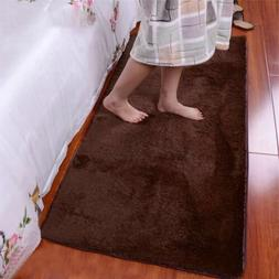 Polyester Soft Fluffy Rugs Anti-Skid Shaggy Area Rug Dining