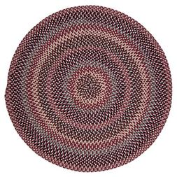 Boston Common Polypropylene Braided Round Rug, 10-Feet, Bric