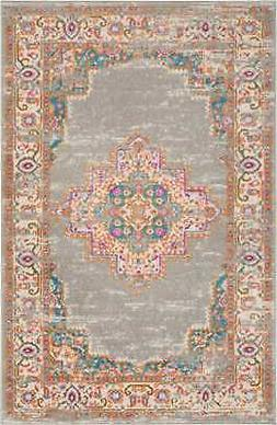 "Nourison PSN03 Passion Grey Contemporary Area Rug, 3'9"" x 5'"