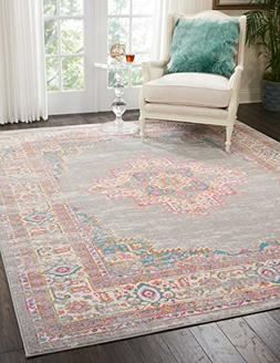 Nourison PSN03 Passion Grey Area Rug, 8' x 10