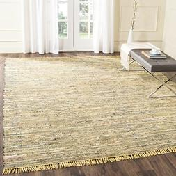 Safavieh Rag Rug Collection RAR121H Hand Woven Yellow and Mu