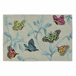 Liora Manne Ravella Butterflies On Tree Indoor/Outdoor Area