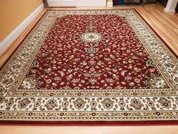 red traditional oriental medallion 8x10 area rug