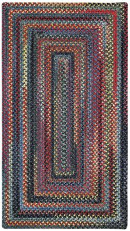 Capel Rugs High Rock Rectangle Braided Area Rug, 2 x 3', Blu