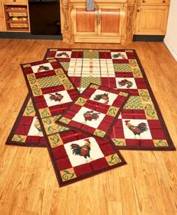 Rooster Kitchen Decor Living Room Area Rug Runners Country H