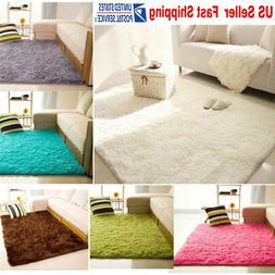 Fluffy Rug Anti-Skid Shaggy Dining Room Home Bedroom Living