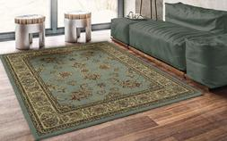 "Ottomanson Royal Collection Area Rug 5'3"" X 7' Seafoam Flora"