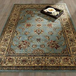 "Ottomanson Royal Collection Area Rug, 5'3"" X 7', Seafoam Flo"