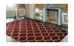"Ottomanson Royal Collection Area Rug, 7'10""X9'10"", Dark Red"