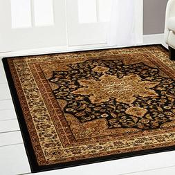 "Home Dynamix Royalty Ursa Area Rug 7'8""x10'4"", Border Black"