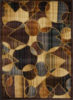 Royatly Brown / Blue Contemporary Rug - Size: 7'8 x 10'4