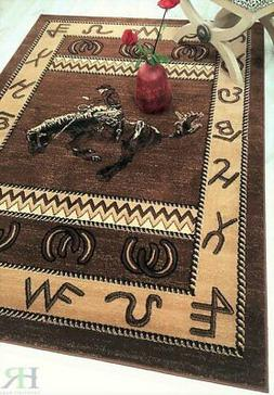 Rug For Lodge Cabin Nature and Animals Geometric Area Rugs C
