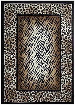 c4b7e1d084 Rugs 4 Less Collection Leopard Tiger Skin Mix Animal Print A