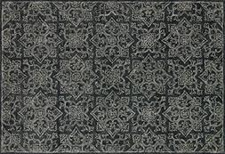 "Loloi Rugs, Filigree Collection - Charcoal Area Rug, 3'-6"" x"