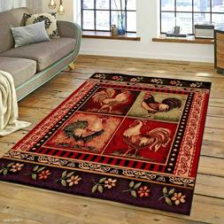 RUGS AREA RUGS CARPETS 8x10 AREA RUG MODERN ROOSTER KITCHEN