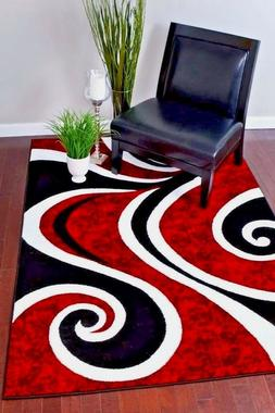 RUGS AREA RUGS CARPETS 8x10 RUG FLOOR BIG RED MODERN LARGE C
