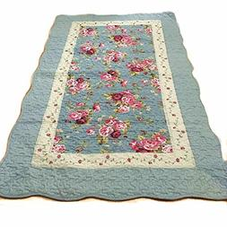 Ustide Rustic Rose Area Rug Cotton Quilted Area Carpet Rusti