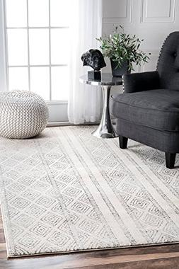 nuLOOM RZBD40A Sarina Diamonds Area Rug, 3' x 5', Grey