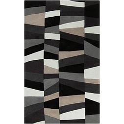 Art of Knot S00151010143 Emil Area Rug, 3'6 x 5'6, Gray/Blac