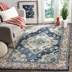 Safavieh Monaco Collection MNC243N Vintage Bohemian Navy and