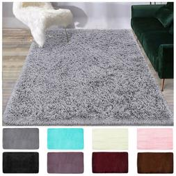 Shaggy Area Rugs Floor Carpet Living Room Rugs Soft Fluffy M