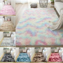Shaggy Area Rugs Fluffy Tie-Dye Floor Soft Carpet Living Roo