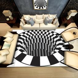 Shaggy Fluffy Anti-Slip Area 3D Rug Dining Room Bedroom Carp