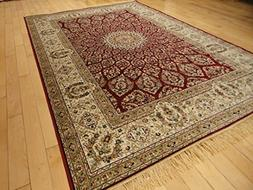 New Silk Red Traditional Area Rug Traditional Rugs For Livin
