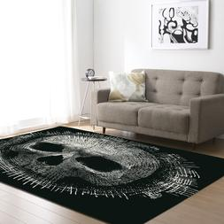 Skull Carpet Kids Room <font><b>Area</b></font> <font><b>Rug