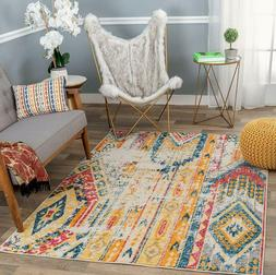 """Rugshop Sky Collection Bohemian Area Rug 7'10"""" x 10' Multi"""