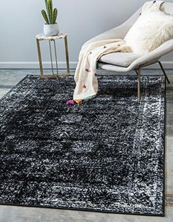 Unique Loom Monaco Collection Traditional Vintage Black Home