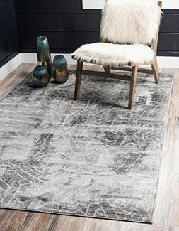 Unique Loom Sofia Collection Dark Gray Area Rug
