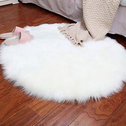 Quartly Soft Faux Sheepskin Area Rugs Supersoft Fluffy Shagg