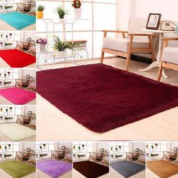 Soft Fluffy Mat Home Blanket Area Rug Anti-Skid Kitchen Floo
