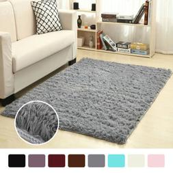 Soft Fluffy Rugs Anti-Skid Shaggy Area Rug Dining Room Home