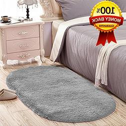 Softlife Soft Velvet Silk Rugs Simple Style Modern Oval Shag