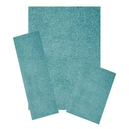 Bright House Solid Color Teal 5'x7' 2'x8' 2'x3' Set - Area