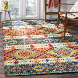 Southwestern Tribal Plush Hand Hooked Wool Area Rug **FREE S