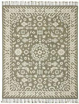 Stone & Beam Barnstead Floral Wool Area Rug, 5' x 8', Charco
