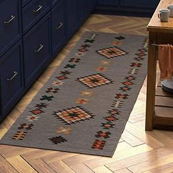 "Stone & Beam Casual Geometric Cotton Rug, 2' 6"" x 8', Flatwe"