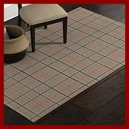 Stone & Beam Casual Plaid Area Rug, 5 x 8 Foot, Flatweave, G