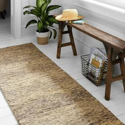 """Stone & Beam Contemporary Speckle Wool Rug, 2'3"""" x 7'6"""", Gre"""